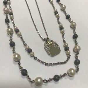 Lia Sophia Three layer necklace